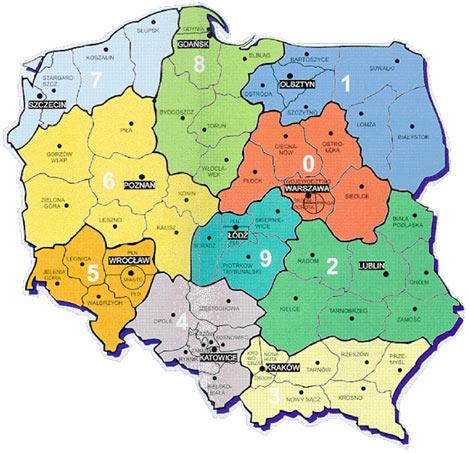 kody pocztowe polska